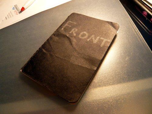 Pocket Moleskine notebook