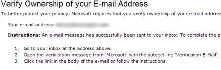 Verify Email Screenshot